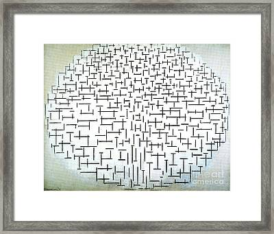 Mondrians Trees Framed Print by Pg Reproductions
