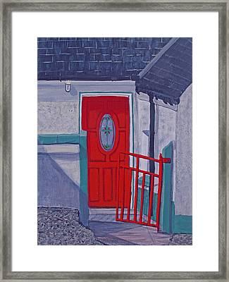 Monedarragh Back Door And Gate Framed Print by Barbara McDevitt