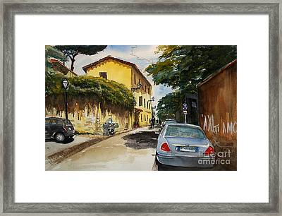 Monestero Foresteria Rome Framed Print