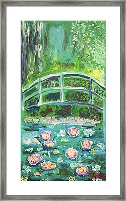 Monet 1899 Bridge Over A Pool Of Water Lilies Framed Print by Ethan Altshuler