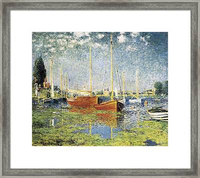 Monet, Claude 1840-1926. Argenteuil Framed Print by Everett
