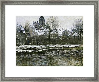 Monet, Claude 1840-1926. The Church Framed Print by Everett