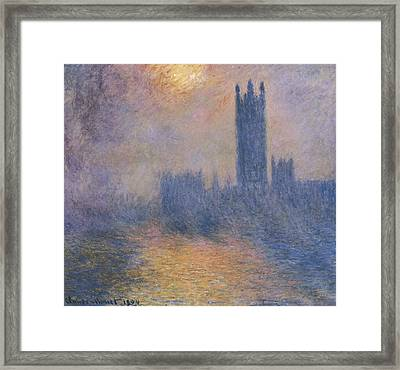 Monet, Claude 1840-1926. The Houses Framed Print by Everett