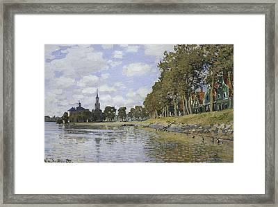 Monet, Claude 1840-1926. Zaandam. 1871 Framed Print by Everett