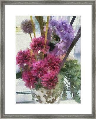 Monet Flowers Framed Print by Kelly Schutz