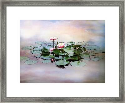Monet Lilies  Framed Print by Jessica Jenney