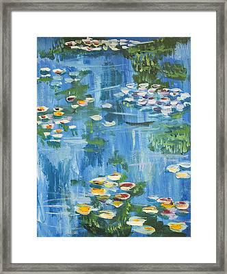 Monet Water Lilies Framed Print