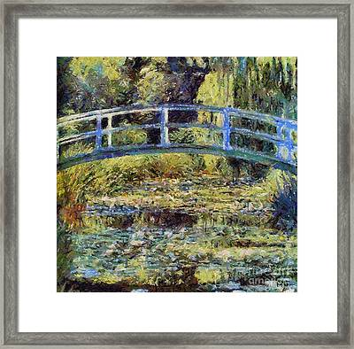 Monet's Bridge Framed Print