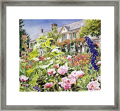 Monet's Garden Giverny Framed Print by David Lloyd Glover