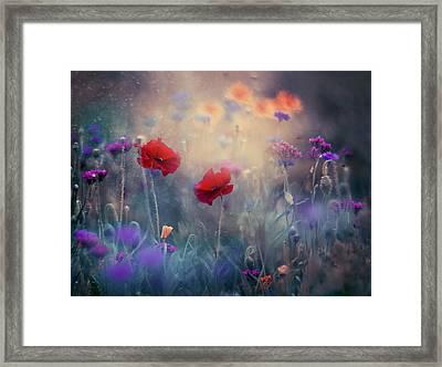 Monet's Garden II Framed Print