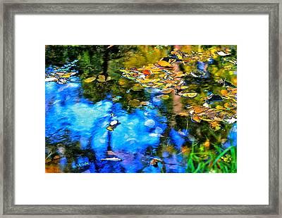 Framed Print featuring the photograph Monet's Garden by Ira Shander