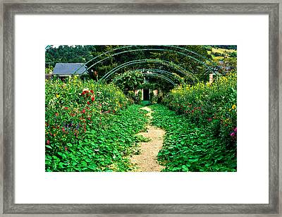 Monet's Gardens At Giverny Framed Print by Jeff Black