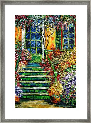 Monet's Giverny Oil Painting Framed Print by Beata Sasik