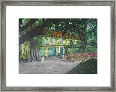 Framed Print featuring the painting Monet's Home by Hilda and Jose Garrancho