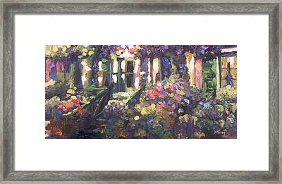 Monet's Home In Giverny Framed Print by Donna Tuten