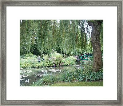 Monet's Japanese Bridge Framed Print by Kristine Bogdanovich