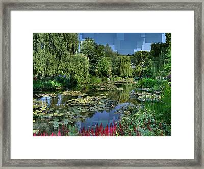 Monet's Lily Pond At Giverny Framed Print