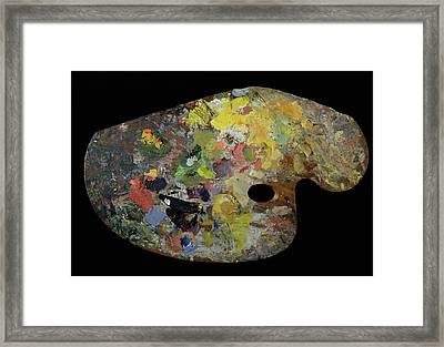 Palette Belonging To Claude Monet Framed Print by French School