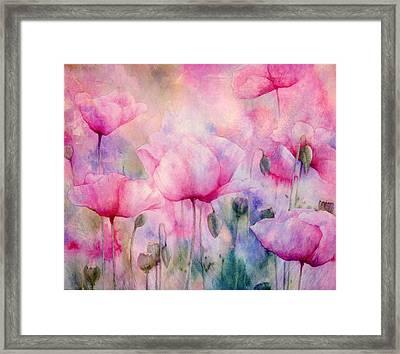 Monet's Poppies Vintage Cool Framed Print