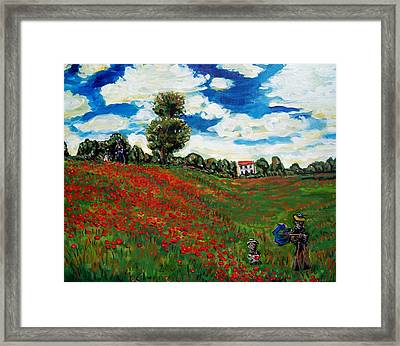 Monet's Tulips Framed Print by Mitchell McClenney