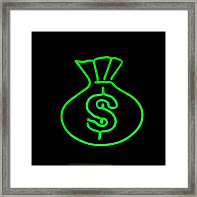 Money Bag Framed Print by Art Block Collections