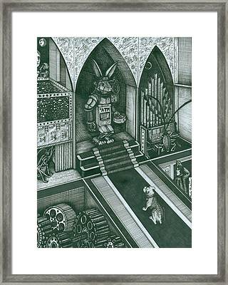 Money Bunny Framed Print by Richie Montgomery