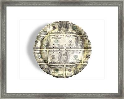 Money Dollar Pie Framed Print by Allan Swart