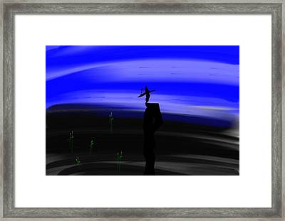 Money Don't Make You Whole Framed Print by Frankie Thorpe