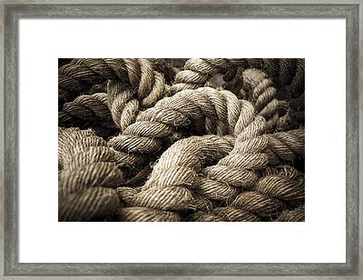 Framed Print featuring the photograph Money For Old Rope by Stewart Scott