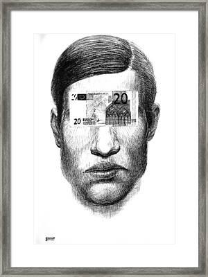 Money Glasses Framed Print