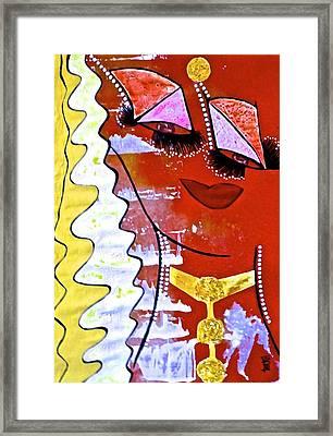 #money Grace Framed Print by Lady Picasso Tetka Rhu