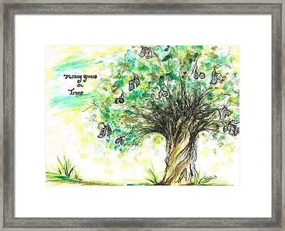 Money Grows On Trees Framed Print by Teresa White
