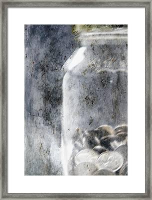 Money In A Jar Framed Print by Skip Nall