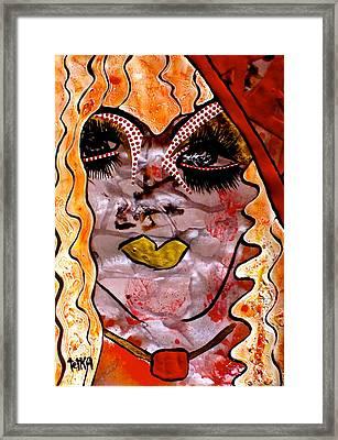 #money #kiss Framed Print by Tetka Rhu