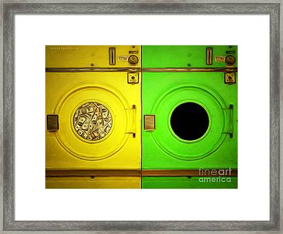 Money Laundering 20141225 With Text Framed Print by Wingsdomain Art and Photography