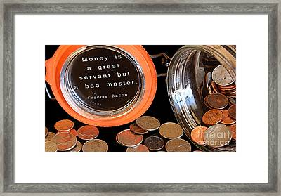 Money - The Bad Master Framed Print