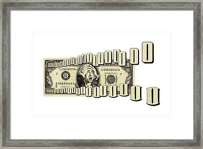 Money Worries, Conceptual Artwork Framed Print by Science Photo Library