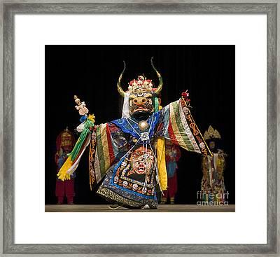 Mongolian Yak Dancer  Framed Print