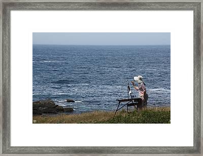 Monhegan Artist Framed Print