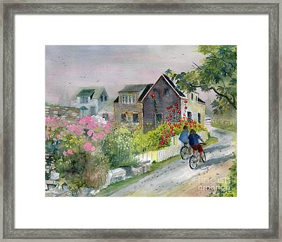 Monhegan In August Framed Print by Melly Terpening