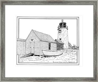 Monhegan Island Light Framed Print