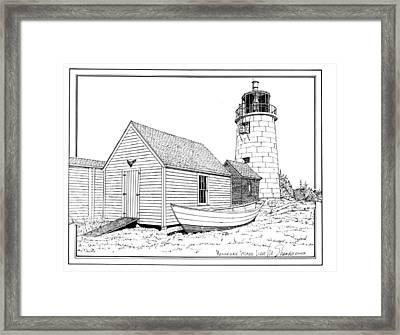 Monhegan Island Light Framed Print by Ira Shander