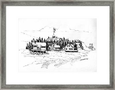 Monhegan Village 1987 Framed Print