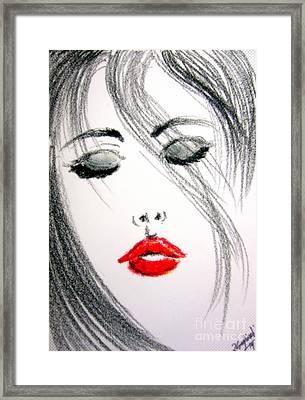 Monica Bellucci Framed Print by Roberto Gagliardi