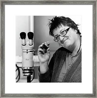 Monica Grady Framed Print by Lucinda Douglas-menzies