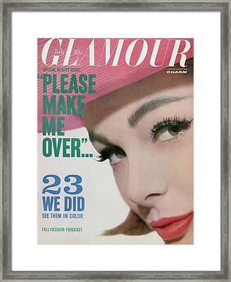 Monique Chevalier On The Cover Of Glamour Framed Print by Tom Palumbo