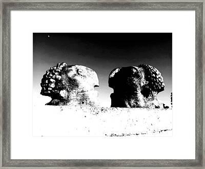 Monitors - Black And White Framed Print