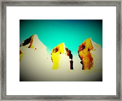 Monitors - Blue Sky Framed Print by Mark M  Mellon