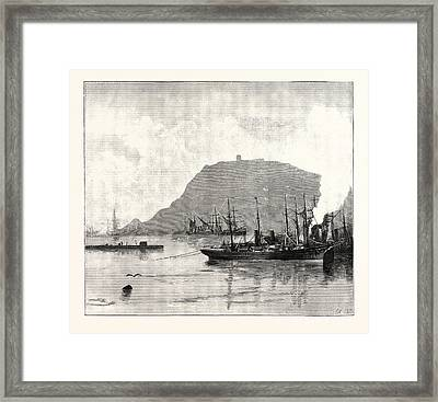 Monjuich, From The Harbour Framed Print