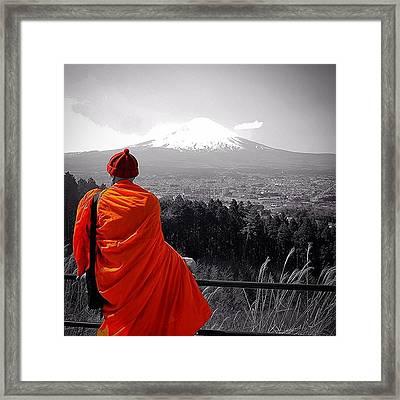 #monk & #fuji ( #富士 ) - Viewpoint Framed Print